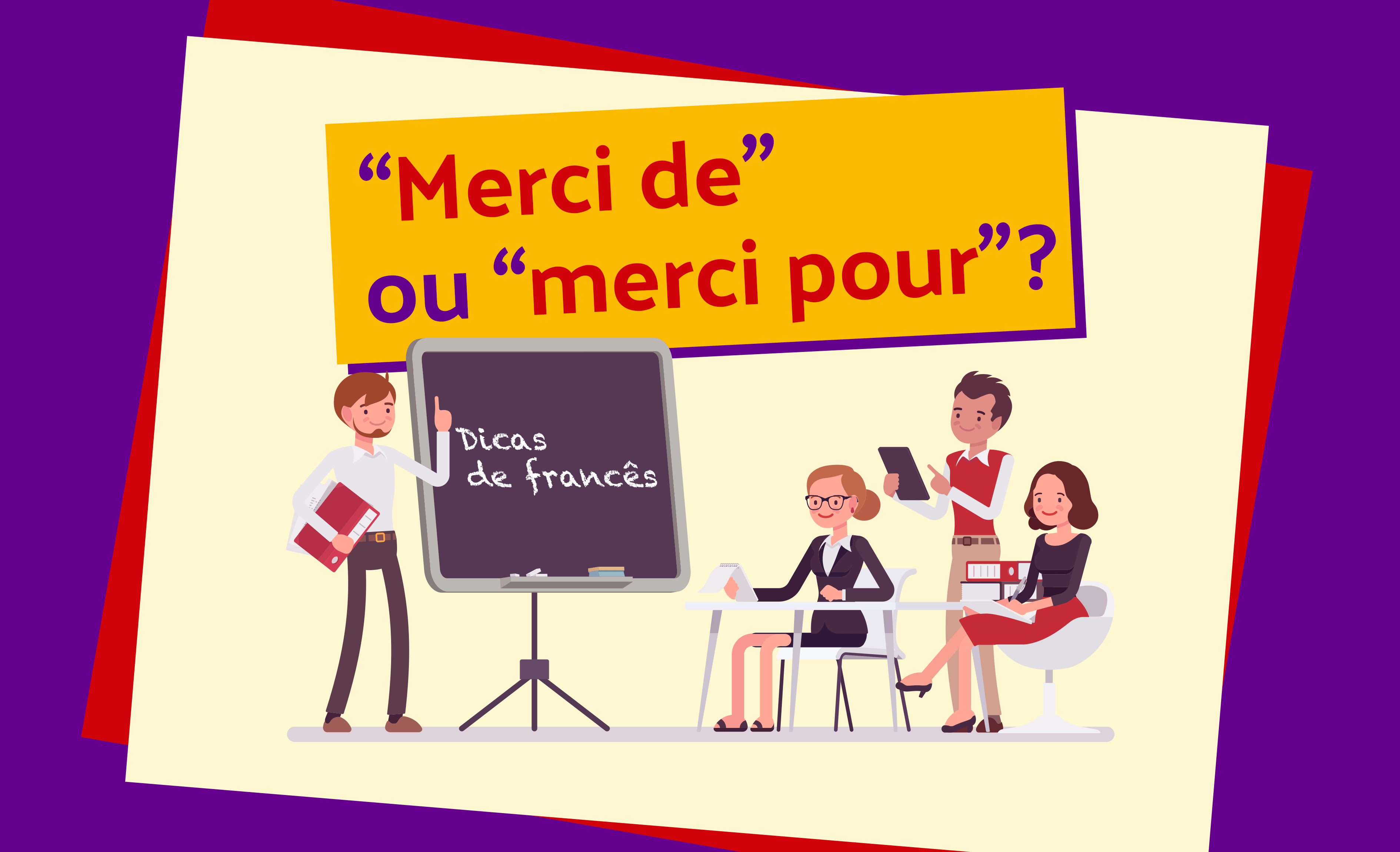 Pytanie o język #5 - Merci de czy merci pour? - nagłówek - Francuski przy kawie